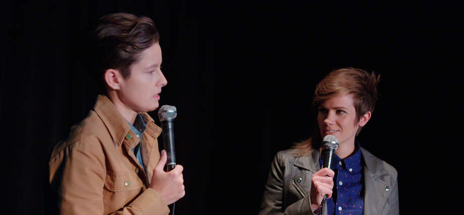 "Rhea Butcher (left) and Cameron Esposito star in ""Take My Wife,"" starting Thursday, Aug. 11, on comedy streaming service Seeso. Photo: Take My Wife"