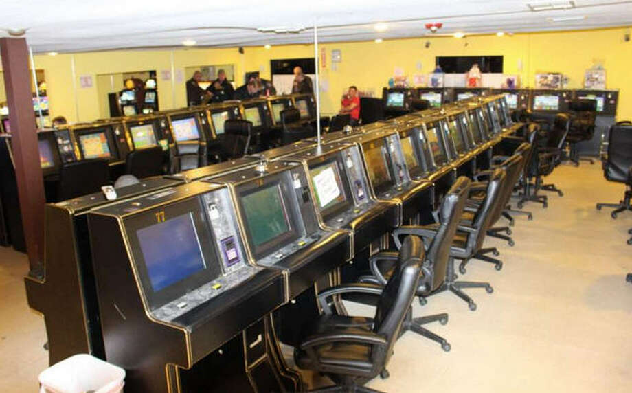 Nearly 100 eight-liner machines were seized in a Fort Bend County Sheriff's Office raid of the H-90 Game Room east of Richmond in December 2014.