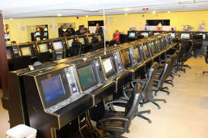 Nearly 100 eight-liner machines were seized in a Fort Bend County Sheriff's Office raid of the H-90 Game Room east of Richmond in December 2014.  Nearly 100 eight-liner machines were seized in a Fort Bend County Sheriff's Office raid of the H-90 Game Room east of Richmond in December 2014.