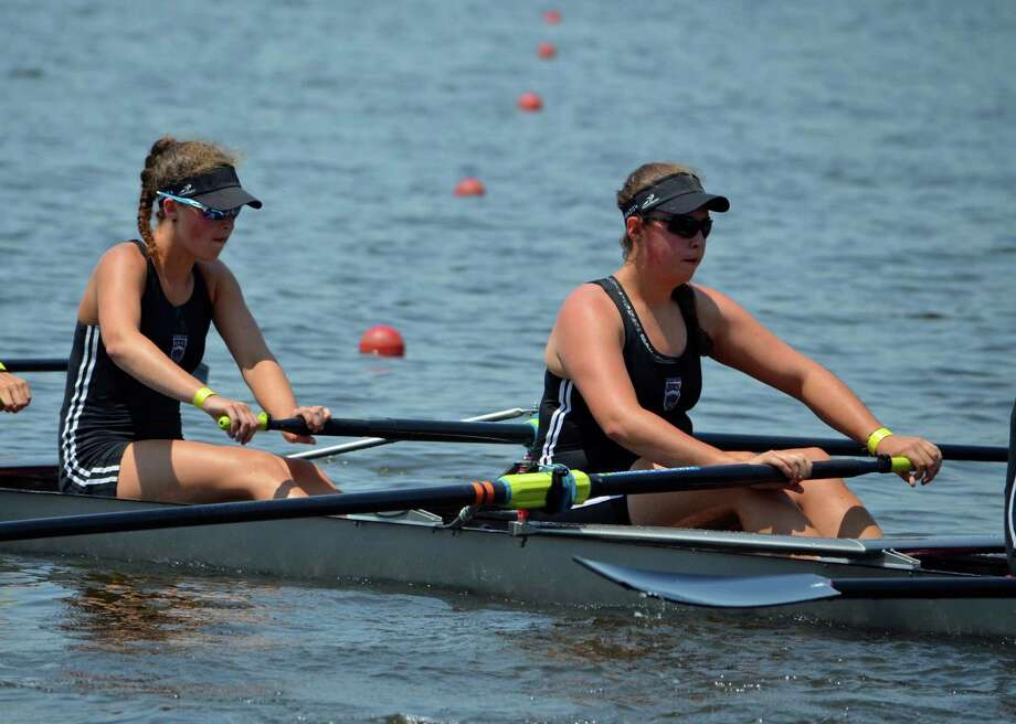 Sisters Grace and Kelsey McGinley will each represent team USA at the 2016 World Rowing Junior Championships, which takes place from August 21-28 month in Rotterdam, The Netherlands. Photo: Contributed Photo / Westport News Contributed