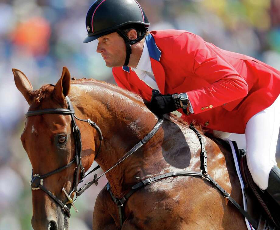 Boyd Martin of the United States riding Blackfoot Mystery during the eventing team jumping final and individual qualifier on Day 4 of the Rio 2016 Olympic Games at the Olympic Equestrian Centre on Aug/ 9, 2016 in Rio de Janeiro. Photo: Jamie Squire /Getty Images / 2016 Getty Images