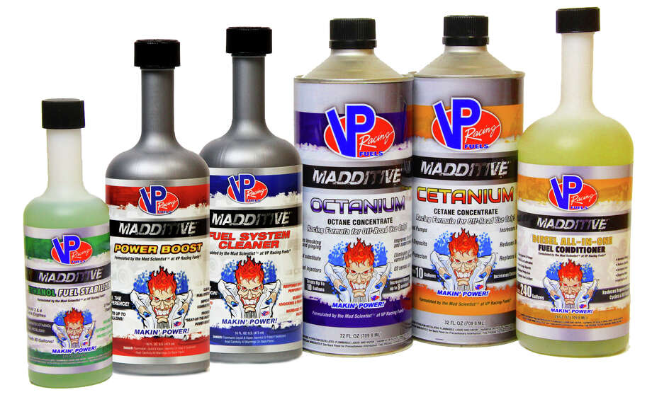 "The ""Madditive"" family of VP Racing Fuels additives and fuels will be offered at more than 5,000 AutoZone stores this year. Photo: Courtesy VP Racing Fuels /"