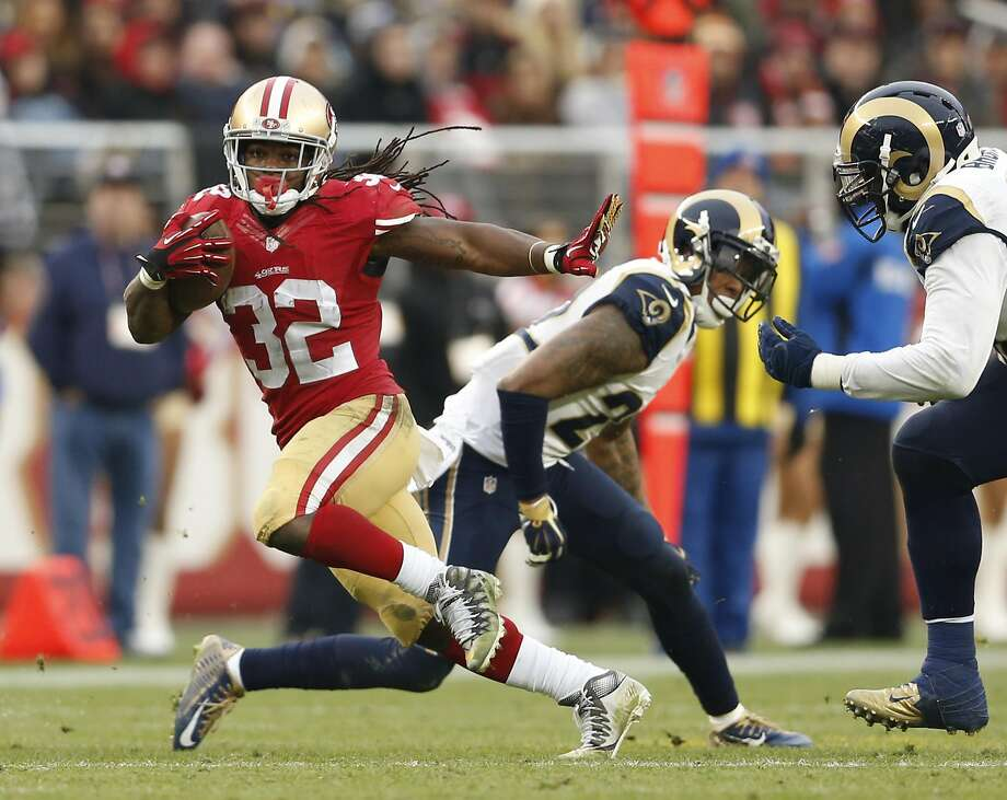 DuJuan Harris played two games for the 49ers last season — and finished fifth on the team in rushing with 140 yards. Photo: Scott Strazzante, The Chronicle