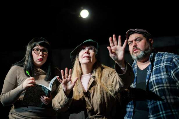 "Vicky Liendo (from left), Debbie Basham-Burns and Robert Cardoza star in ""Ghostbears"" at the Overtime Theater."