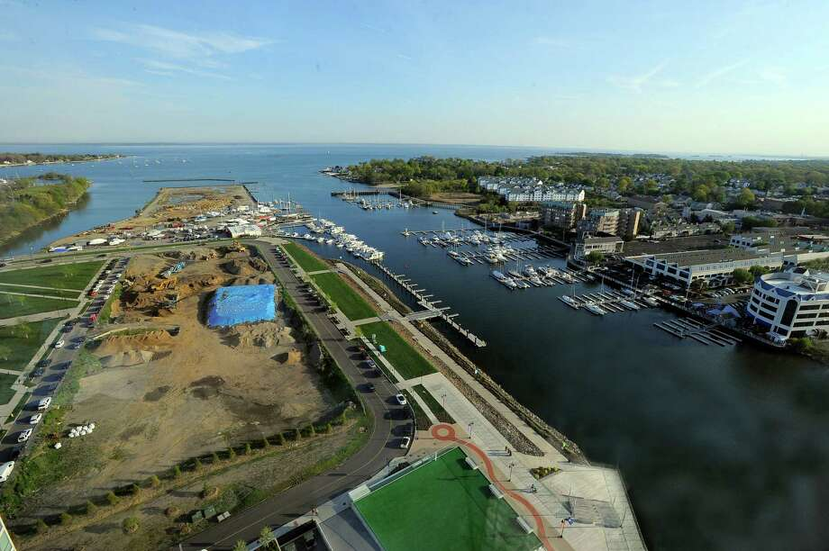 The Stamford Zoning Board on Monday approved Building and Land Technology's plan for a boatyard at the tip of the peninsula. The decision ends years of debate after BLT tore down the former boatyard on the site. Photo: Matthew Brown / Hearst Connecticut Media / Stamford Advocate