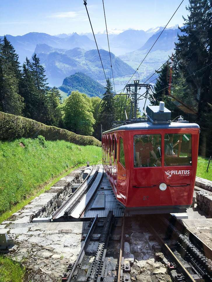 The world's steepest cogwheel railway takes visitors up to the top of Mount Pilatus.
