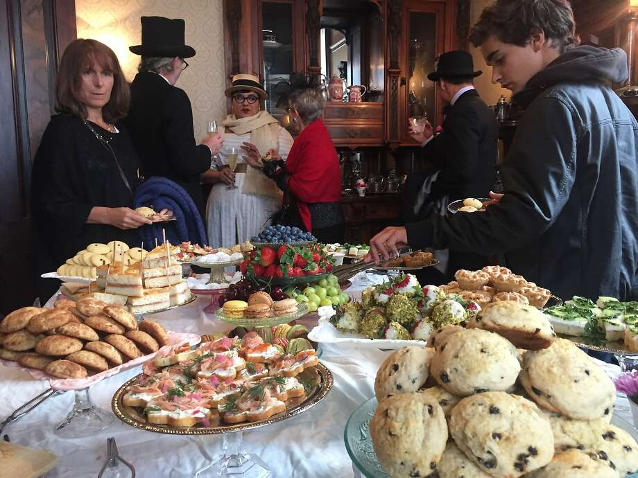 Scones were part of the spread for fans of Victorian homes. Photo: Beth Spotswood
