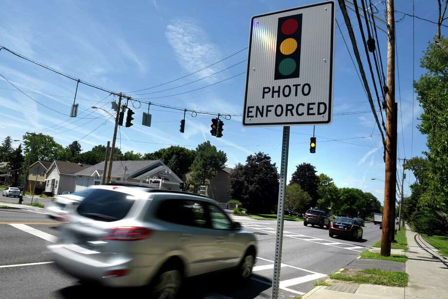 Photo-monitored intersection looking westbound on Western Avenue at Russell Road on Tuesday, Aug. 9, 2016, in Albany, N.Y. (Cindy Schultz / Times Union) Photo: Cindy Schultz / Albany Times Union