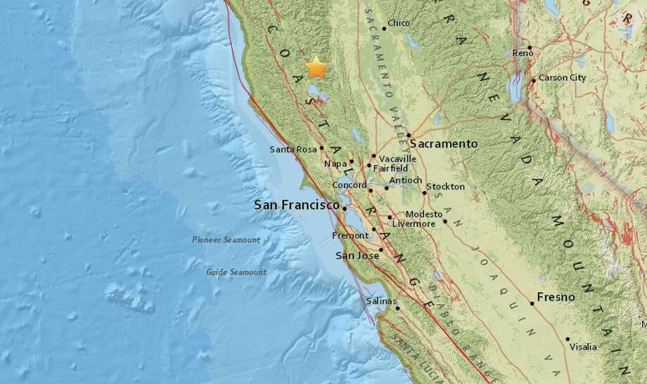 The USGS recorded Tuesday's quake north of Upper Lake.