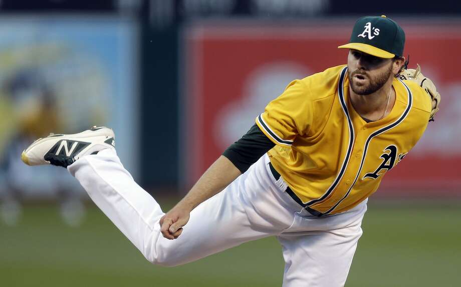 Oakland Athletics pitcher Zach Neal works against the Baltimore Orioles during the first inning of a baseball game Tuesday, Aug. 9, 2016, in Oakland, Calif. (AP Photo/Ben Margot) Photo: Ben Margot, Associated Press