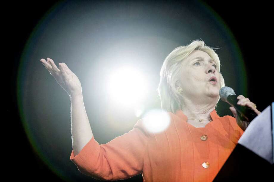 Democratic presidential candidate Hillary Clinton speaks at a rally at Osceola Heritage Park, in Kissimmee, Fla., Monday, Aug. 8, 2016. (AP Photo/Andrew Harnik) ORG XMIT: FLAH146 Photo: Andrew Harnik / Copyright 2016 The Associated Press. All rights reserved. This m