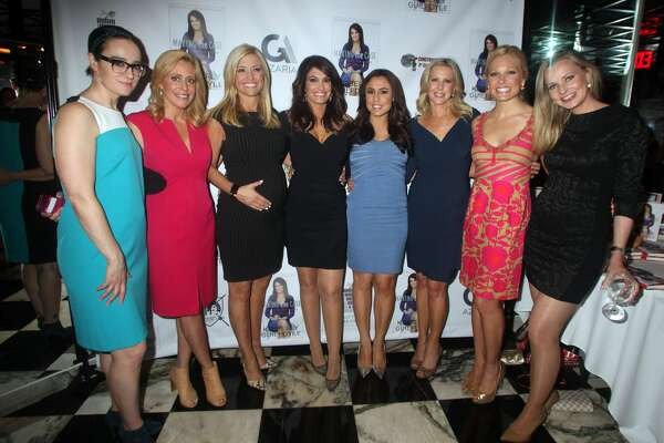 "NEW YORK, NY - JUNE 26: Kennedy, Melissa Francis, Ainsley Earhardt,Kimberly Guilfoyle, Andrea Tantaros,Cheryl Casone, Anna Kooiman, Sandra Smith, at Kimberly Guilfoyle's new HarperCollins book: ""Making The Case"" at The Hunt and Fish Club in Times Square  on June 26, 2015 in New York City.  (Photo by Steve Sands/GC Images)"
