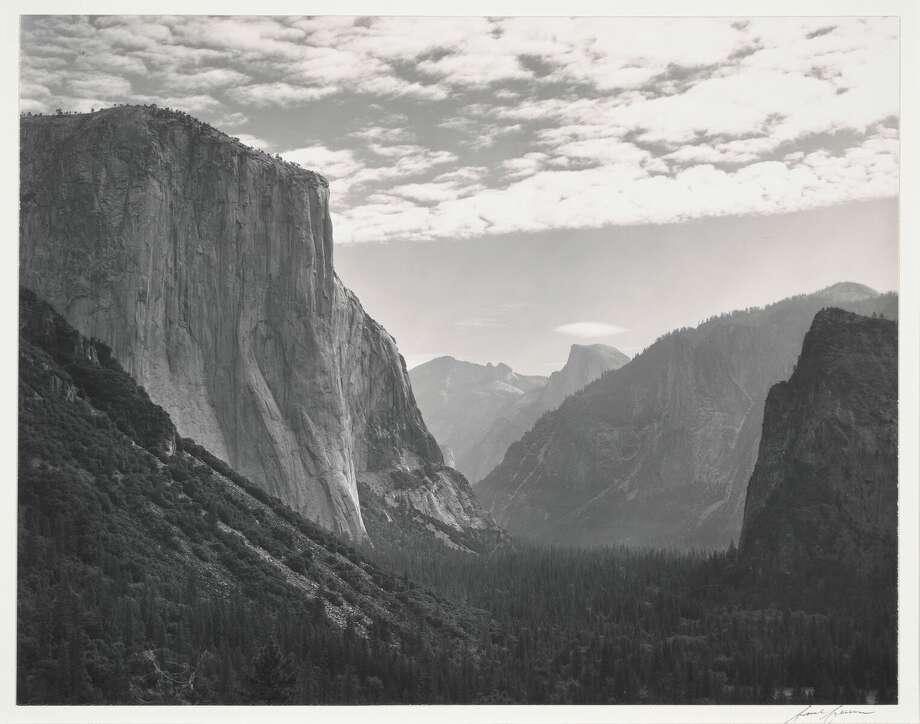 Yosemite Valley, High Clouds, from Tunnel Esplanade, Yosemite National Park, California, ca. 1940. credit: Ansel Adams