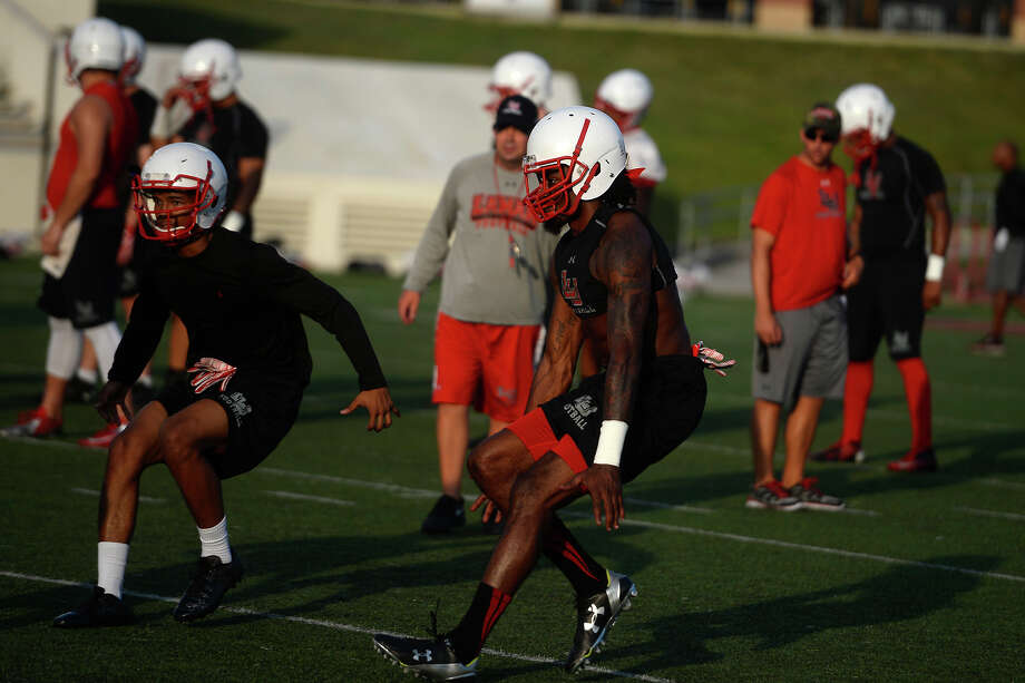 Lamar defensive back Jalen Barnes does drills during practice on Monday evening. Barnes transferred from Texas Tech.  Photo taken Monday 8/8/16 Ryan Pelham/The Enterprise Photo: Ryan Pelham / ©2016 The Beaumont Enterprise/Ryan Pelham
