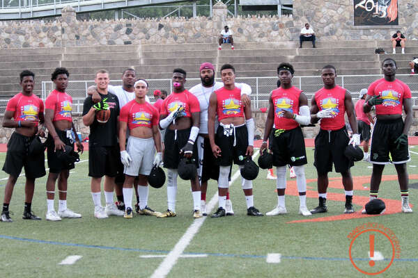 Players and coaches pose after the New York vs. New England All-Star Challenge in 2015. This year's event takes place Saturday, Aug. 13 at Central High School in Bridgeport.