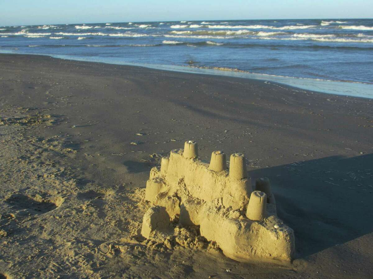 A visitor at Padre Island National Seashore, one of more than 400 National Park Service properties, left behind a sturdy sandcastle on the beach.
