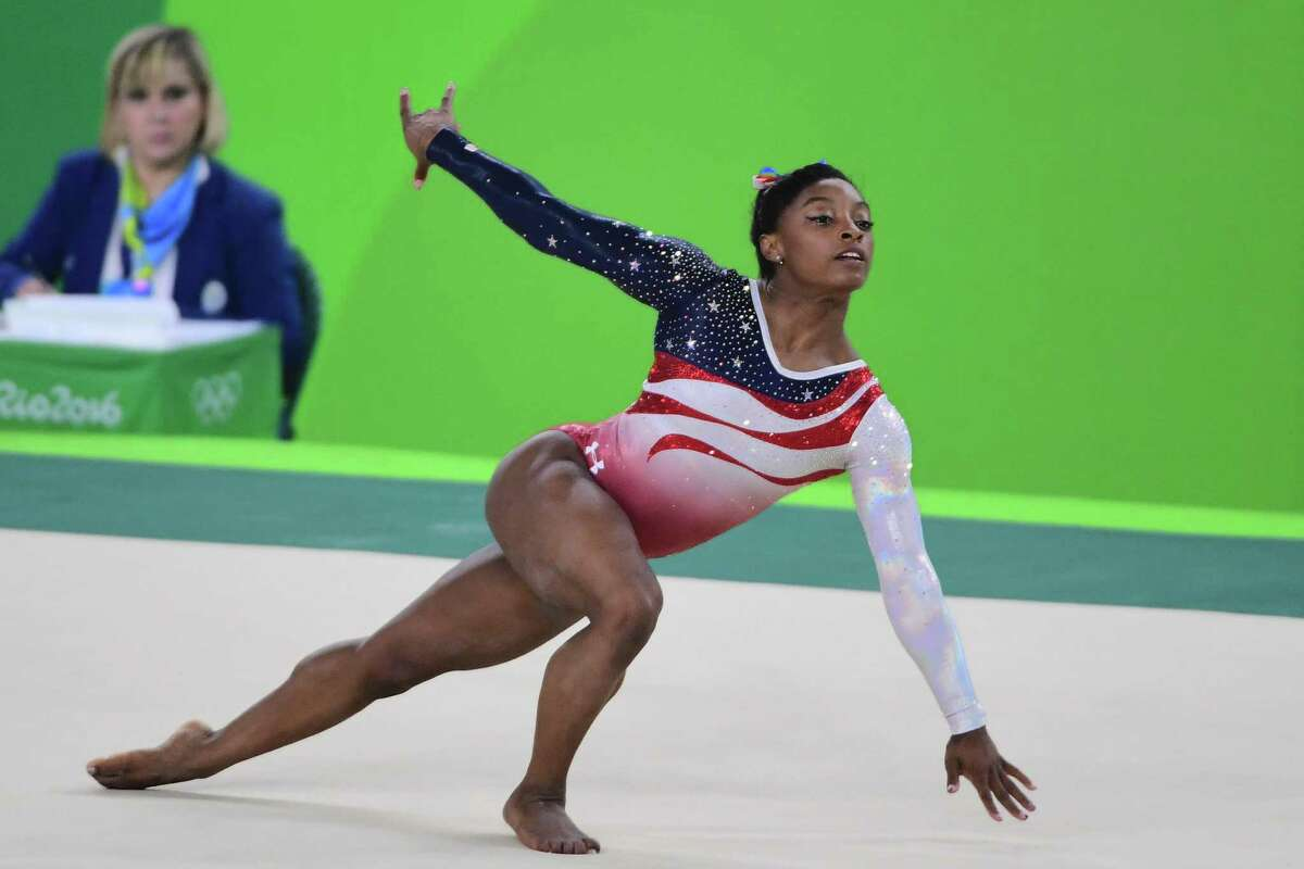 """She will do """"the Biles,"""" a pass with a double layout with a half-twist and a blind landing."""