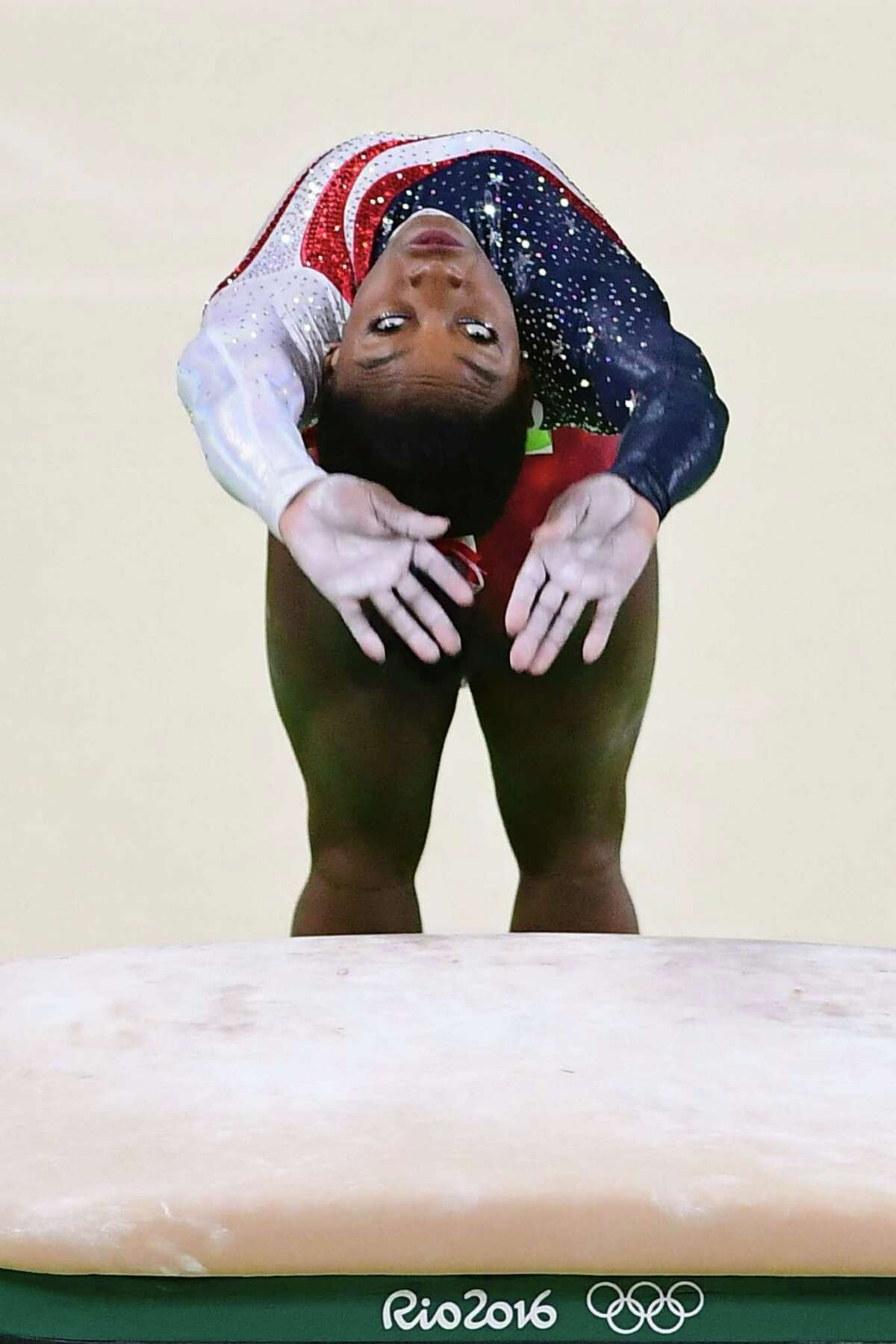 The Amanar, in which Biles does 21/2 twists and makes a blind landing, is a vault tried by few gymnasts.