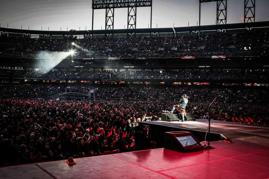Axl Rose of Guns N' Roses performs at AT&T park in San Francisco on August 9, 2016. Photo: Katarina Benzova