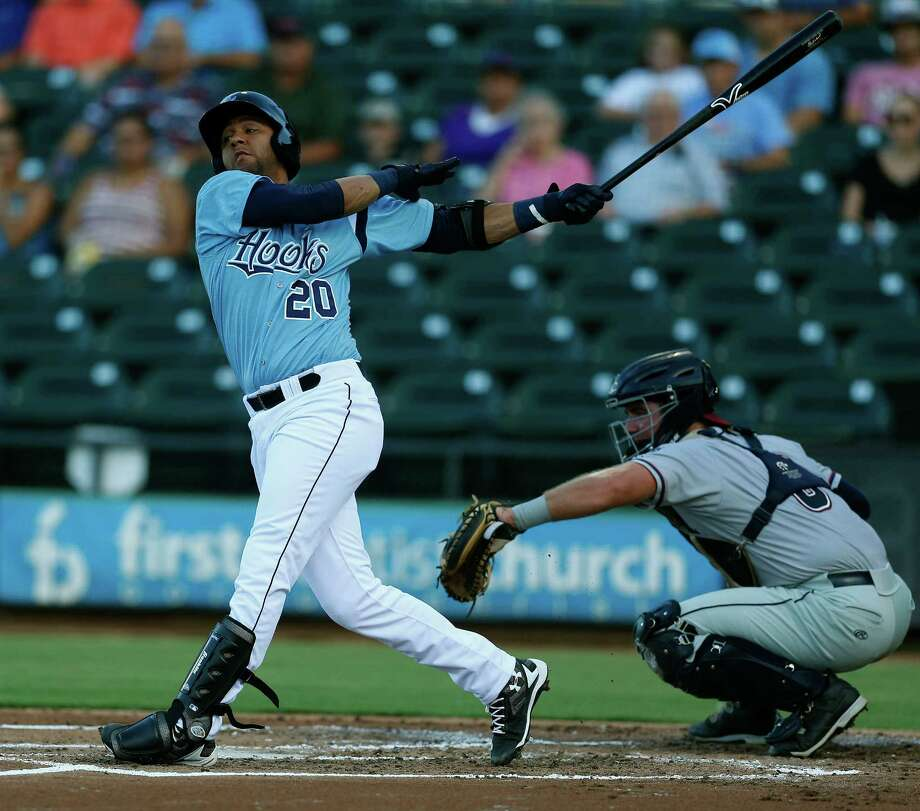 Astros prospect Yulieski Gurriel is expected to make his major-league debut next week after a stint with Class AA Corpus Christi.Click through the gallery to see more shots of Gurriel in action with the Hooks. Photo: Karen Warren, Staff / © 2016 Houston Chronicle