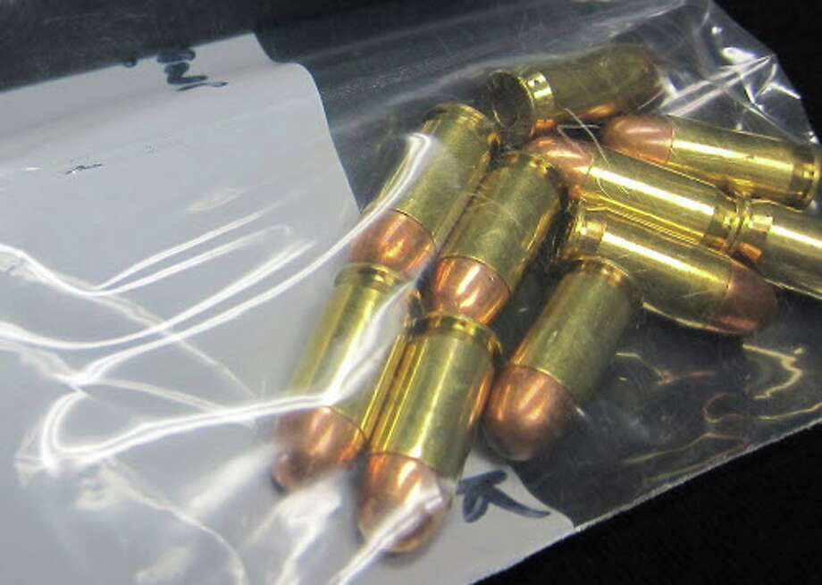 A file photo of a bag of.45-caliber rounds Stamford police said was allegedly stolen from somewhere in Bridgeport, Stamford police said. The rifle bag contained 16 bullets. City lawmakers and others plan to hold a press conference Friday Aug. 12, 2016 outside the Stamford Superior Court, 123 Hoyt St on how to curb a surge in gun violence in recent months. Photo: Jeff Morganteen / ST / Stamford Advocate