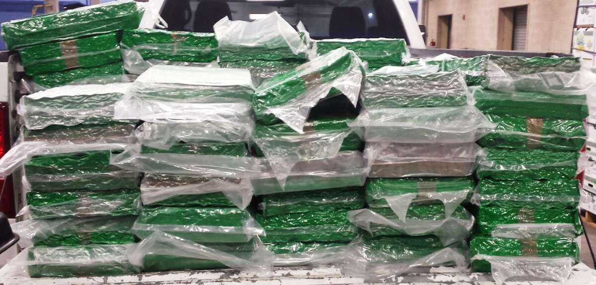 U.S. Customs and Border Protection seized $812,836 worth of alleged marijuana Aug. 5, 2016 at the Pharr International Bridge. The drug was hidden in boxes of limes.
