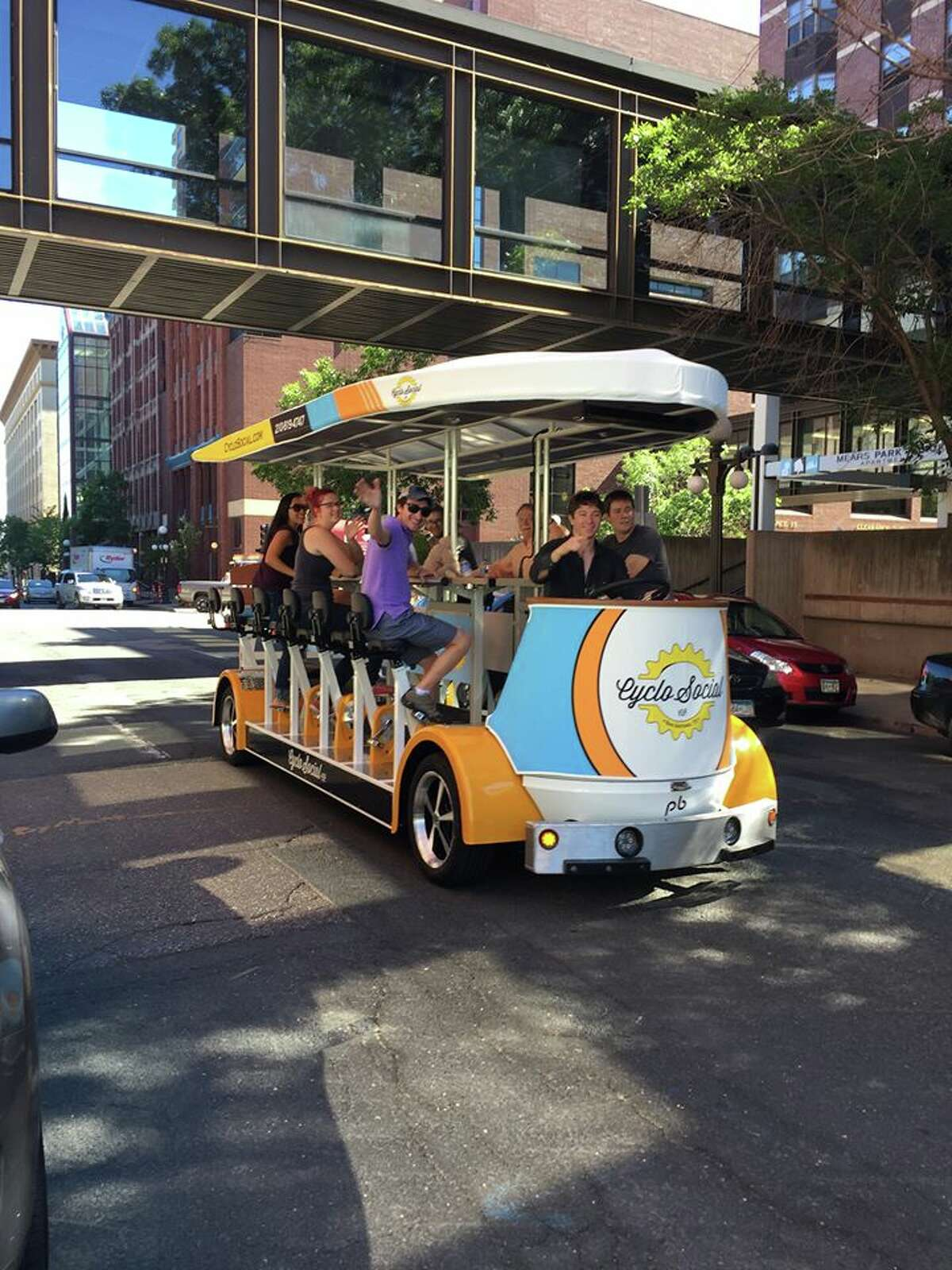 The San Antonio bar scene will go mobile this month when CycloSocial Co. rolls out on August 20, offering the chance for revelers to sip and spin.