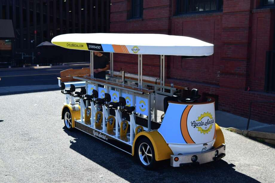 The San Antonio bar scene will go mobile this month when CycloSocial Co. rolls out on August 20, offering the chance for revelers to sip and spin. Photo: Provided By Juan Leon