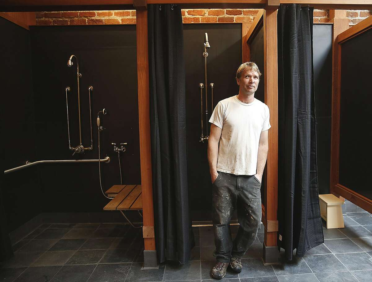 Sunny Simmons bought a 3,000-square-foot, single-story brick building with his wife which they converted into a restaurant spa in the Tenderloin on Tuesday, August 9, 2016, in San Francisco, Calif.