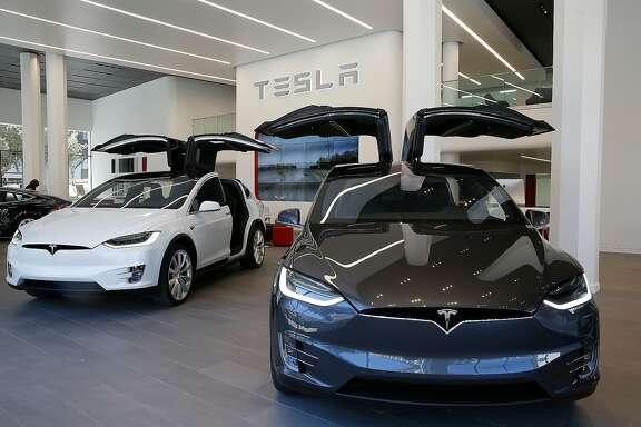 The Tesla Motors showroom in San Francisco.