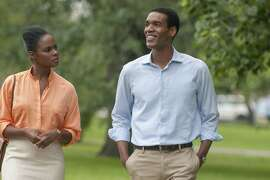 "Tika Sumpter and Parker Sawyers play Michelle and Barack Obama in ""Southside with You,"" directed by Richard TanneCredit:Pat Scola, Courtesy of Tika Sumpter and Parker Sawyers play Michelle and Barack Obama in ""Southside with You,"" directed by Richard TanneCredit:Pat Scola, Courtesy of Miramax and Roadside Attractions"