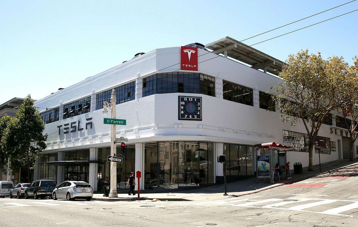 Tesla Motors will open a store in San Francisco this Friday as we take a look on Wednesday, August 10, 2016, in San Francisco, Calif.
