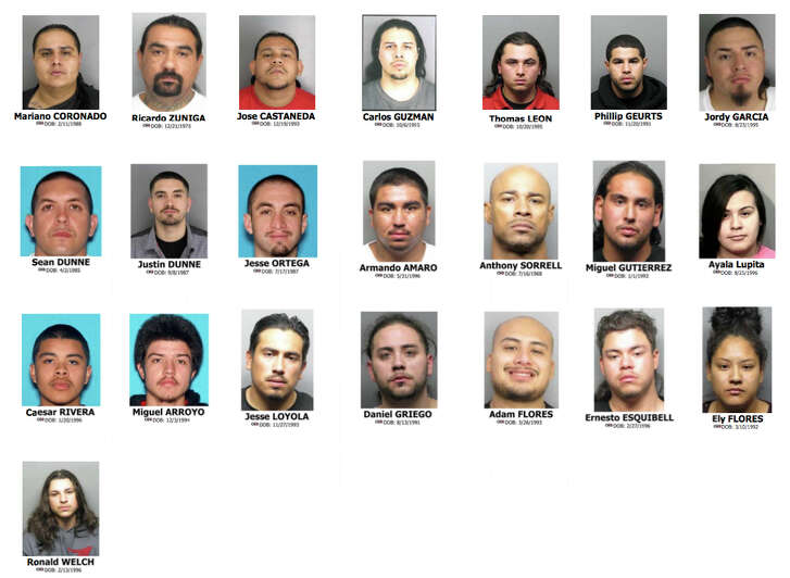 Police arrested these 22 people during house searches last week throughout Contra Costa County. Another two individuals associated with the Norteño gang were arrested on different charges, police said.