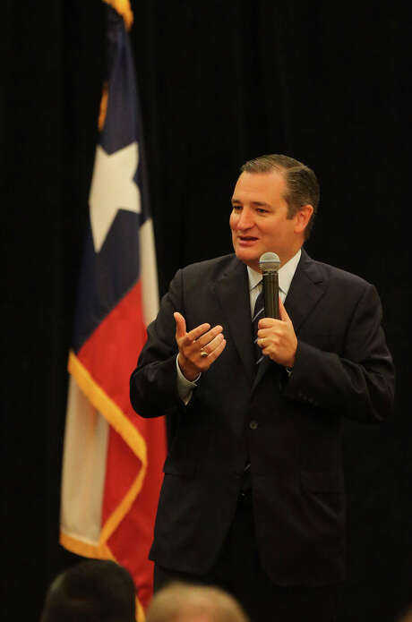 United States Senator Ted Cruz, R-Texas, speaks Wednesday August 10, 2016 at a San Antonio Chamber of Commerce breakfast at the Westin Riverwalk Hotel as a part of their congressional speaker series. This was his first appearance in San Antonio since the primary campaign. Photo: John Davenport, Staff / San Antonio Express-News / ©San Antonio Express-News/John Davenport