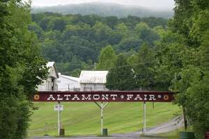 Entrance to the Altamont Fairgrounds Wednesday Aug. 10, 2016 in Altamont, NY.  (John Carl D'Annibale / Times Union)