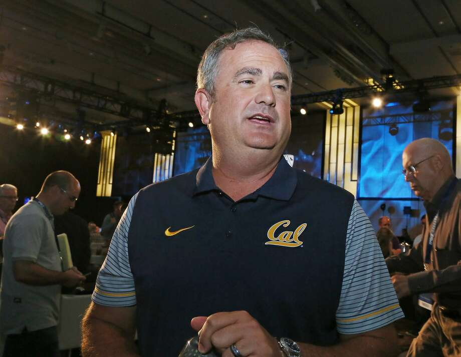 California head coach Sonny Dykes talks to reporters at the Pac-12 NCAA college football media day in Los Angeles Thursday, July 14, 2016. (AP Photo/Reed Saxon) Photo: Reed Saxon, Associated Press