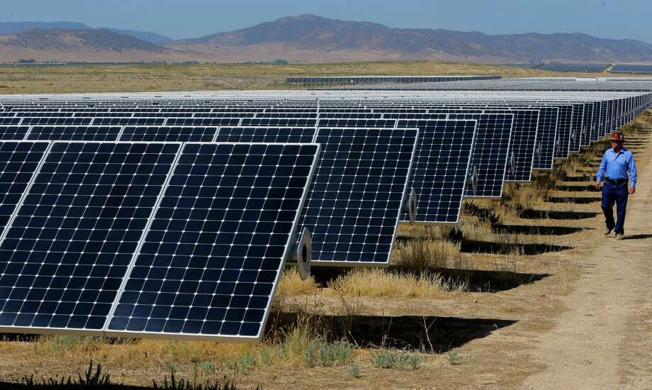 The California Valley Solar Farm near Santa Margarita, Calif., has 749,088 solar panels. Because of a shift in tax policy at the end of 2015, big solar plant deals are slowing. Photo: Michael Macor, Staff / ONLINE_YES