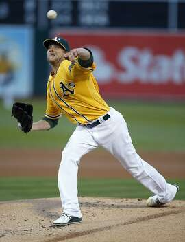 Oakland Athletics pitcher Ross Detwiler throws against the Baltimore Orioles in the first inning of a baseball game Wednesday, Aug. 10, 2016 in Oakland, Calif. (AP Photo/Tony Avelar)
