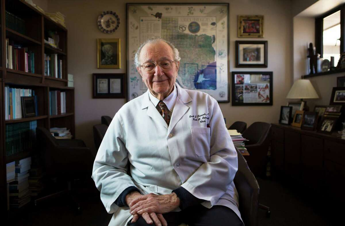 Dr. Emil J. Freireich, shown in this 2015 photo, died Monday. He was 93. Freireich, an M.D. Anderson researcher, was one of the legendary figures in the history of oncology.