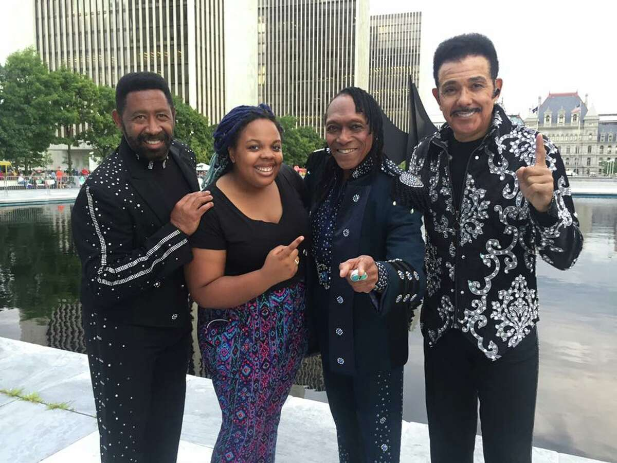 Were you Seen at New York State Food Festival with special guest The Commodores at the Empire State Plaza on Wednesday, Aug. 10, 2016? (That's photographer Jasmine Robinson with The Commodores.)