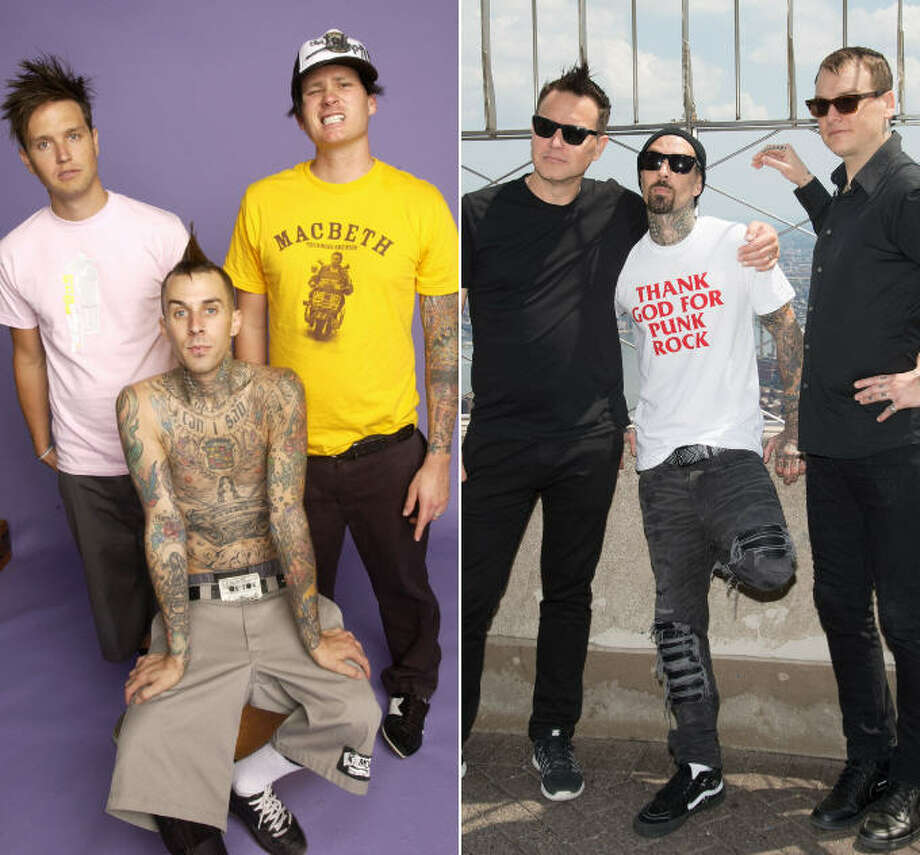 Blink-182, in 2004 and today. One noticeable difference: Tom DeLonge is out, Matt Skiba is in.>>KEEP CLICKING FOR A THEN-AND-NOW LOOK AT YOUR FAVORITE 1990S MUSICAL STARS.