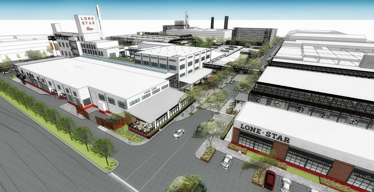 Renderings released in August 2016 provide the first look at what the neglected former San Antonio Lone Star Brewery site in Southtown will look like after a $300+ million redevelopment project.