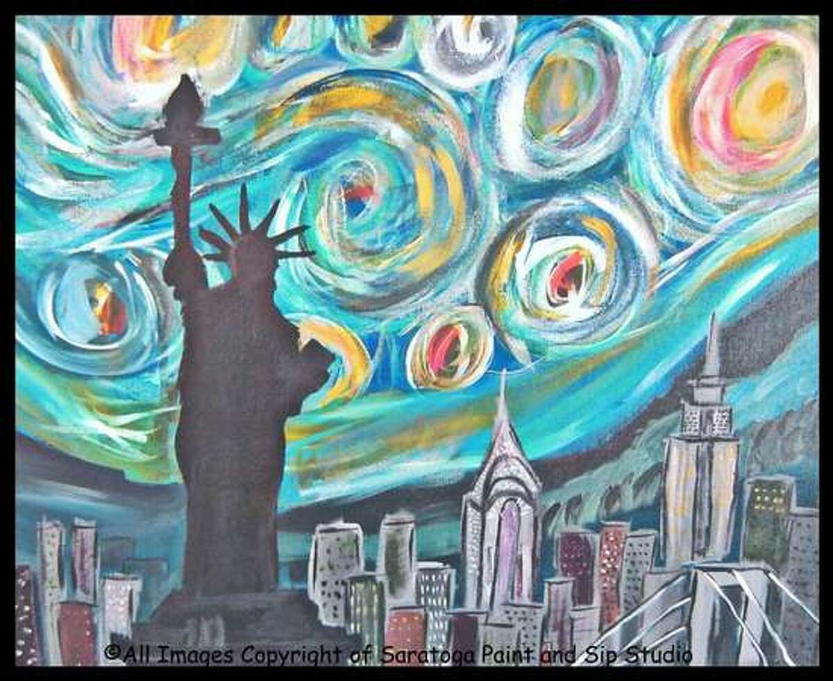 Paint and Sip! New York Starry Night. A local artist will walk you through the painting while you sip on beer or wine from an in-studio bar. Reserve your seat today by visiting the website or calling the studio today. Absolutely no experience necessary. When: Friday, August 12, 7 - 9 PM. Where: Saratoga Paint and Sip Studio, 584 New Loudon Road, Newton Plaza, Latham. For tickets and more information, visit the website.
