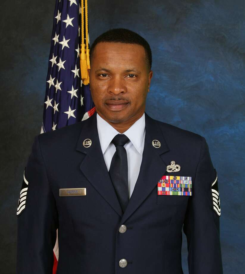 MSgt Darrell Harris served 24 years of active service in the United States Air Force, according to the Brennan High School website. Photo: Courtesy