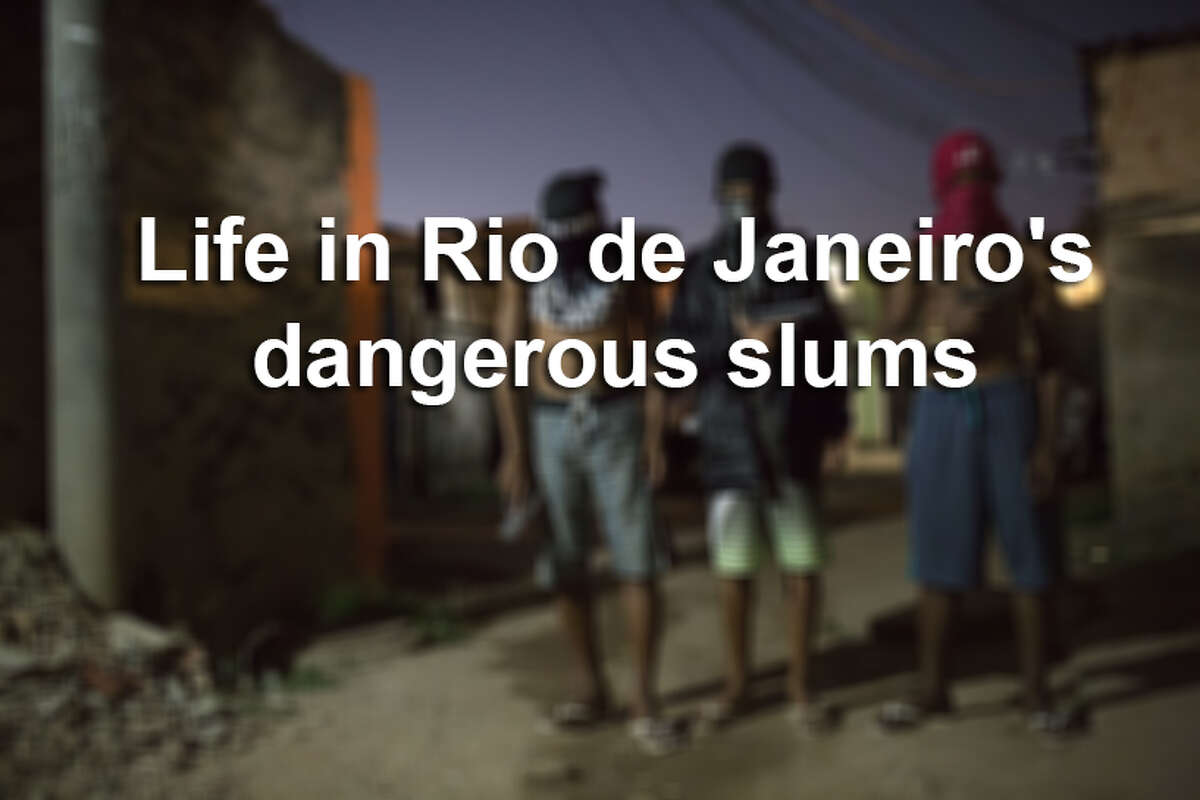 Click through the gallery to see photos from Rio de Janeiro's dangerous slums.