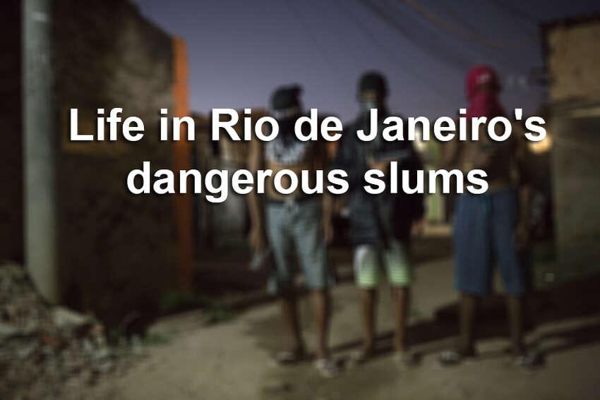 Click through the gallery to see photos from Rio de Janeiro's dangerous slums.