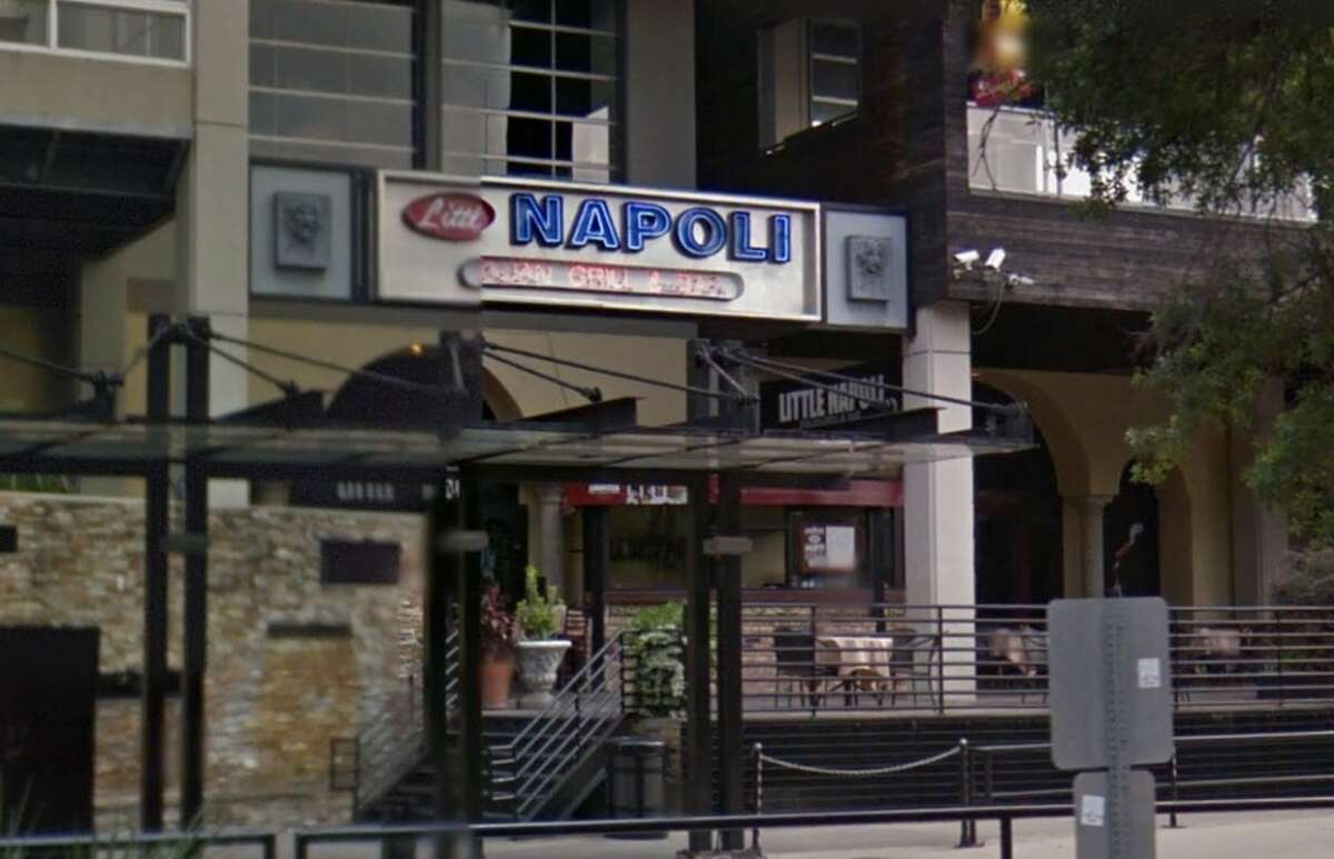 Little Napoli Address: 540 Texas Ave., Houston, Texas 77002 Demerits: 15 Inspection highlights: salad and pots of soups found at an improper temperature; condemned.