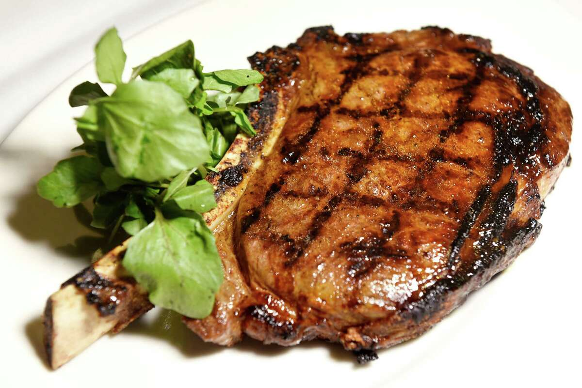 Bone In Ribeye features aged, prime beef on Thursday, Aug. 4, 2016, Morton's The Steakhouse in Saratoga Springs, N.Y. (Cindy Schultz / Times Union)