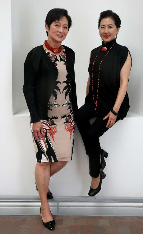 """Woo Ho (left) and Lui are co-chairwomen of the committee for the world premiere of """"Dream of the Red Chamber."""" Photo: Liz Hafalia, The Chronicle"""
