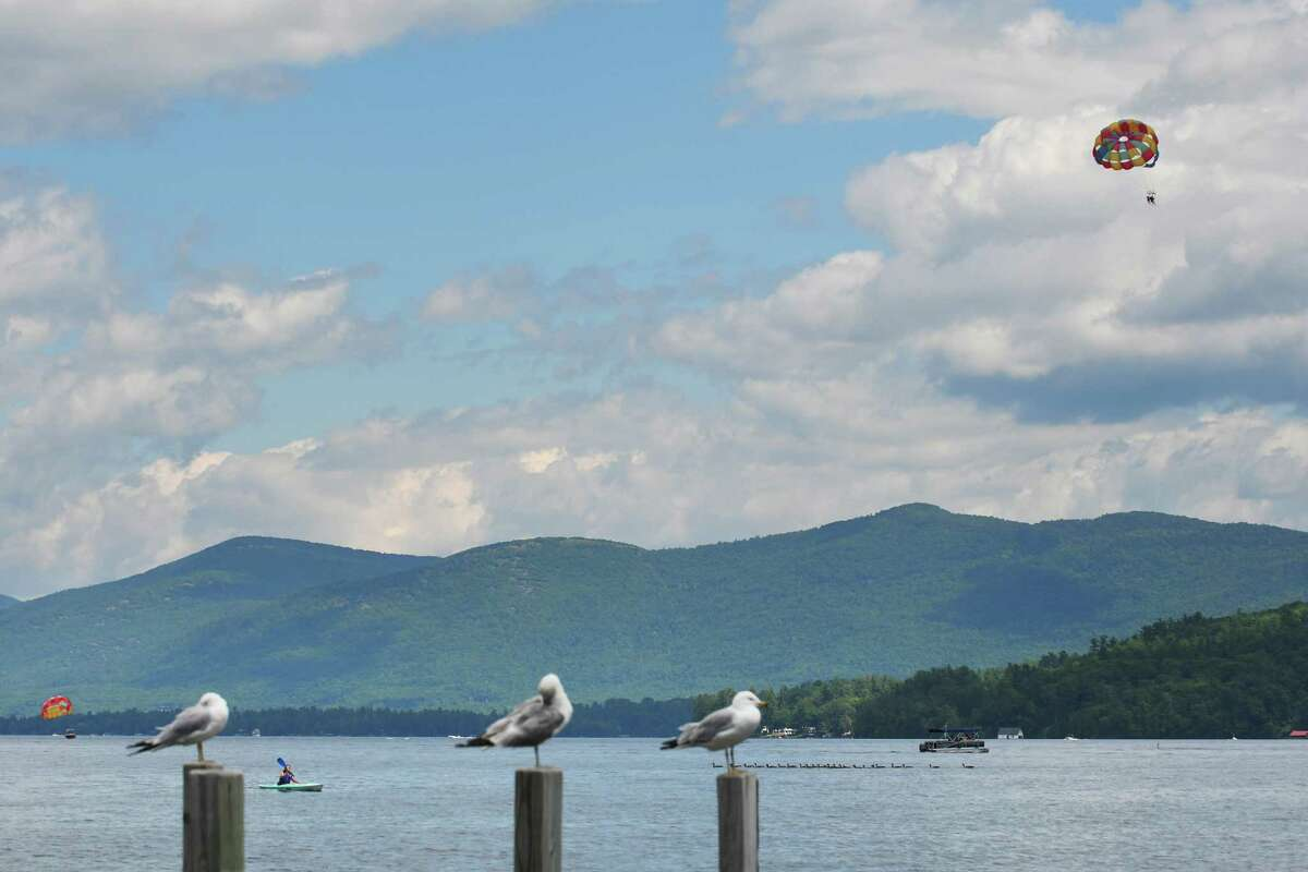 Boaters and birds and vacationers enjoy the water on the south end of Lake George on Tuesday, July 26, 2016, in Lake George, N.Y. (Paul Buckowski / Times Union)